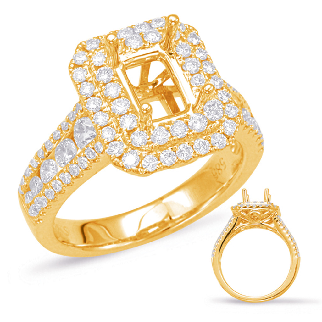 Diamond Engagement Ring  in 14K Yellow Gold    EN7906-7X5MYG