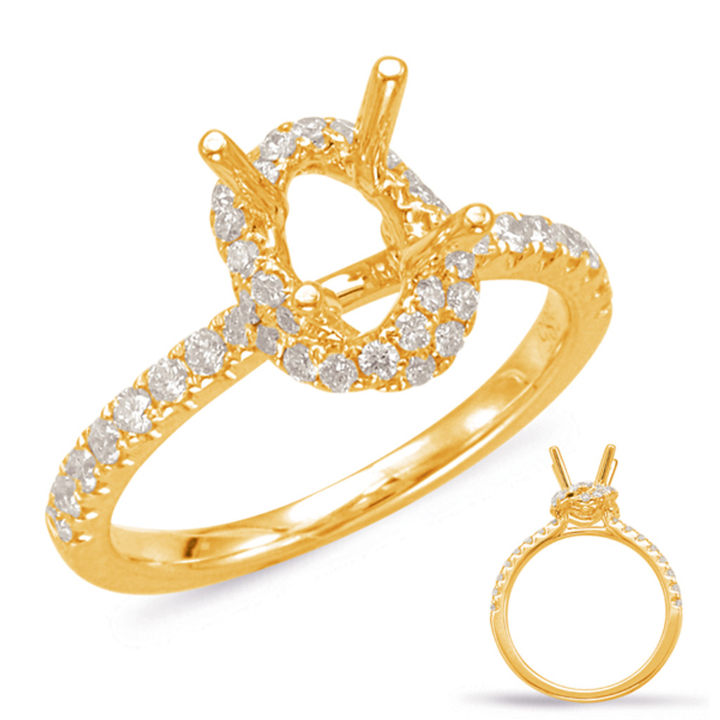 Diamond Engagement Ring  in 14K Yellow Gold    EN7916-7X5MYG