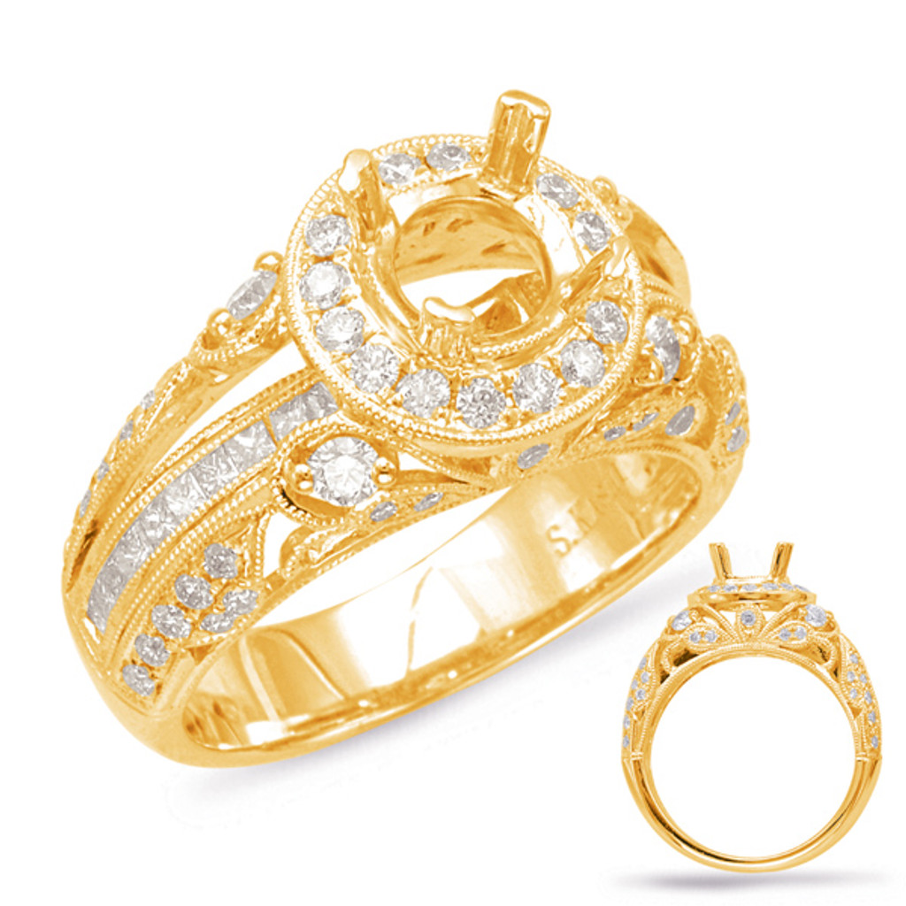 Diamond Engagement Ring  in 14K Yellow Gold    EN7919-1YG