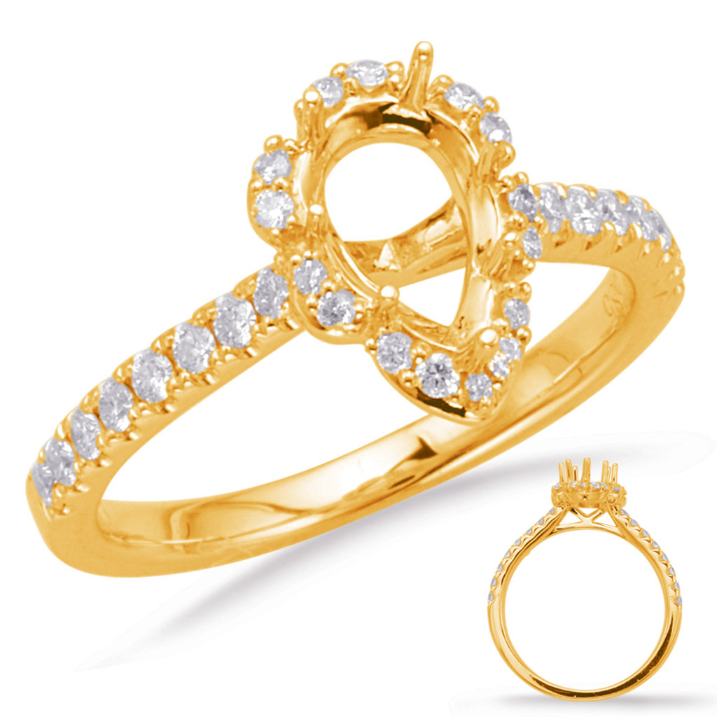 Diamond Engagement Ring  in 14K Yellow Gold    EN8011-7X5MYG