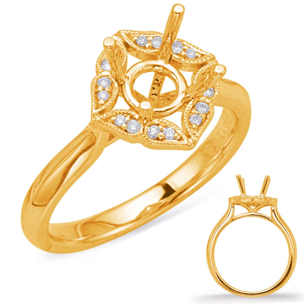 Diamond Engagement Ring  in 14K Yellow Gold    EN8037-50YG