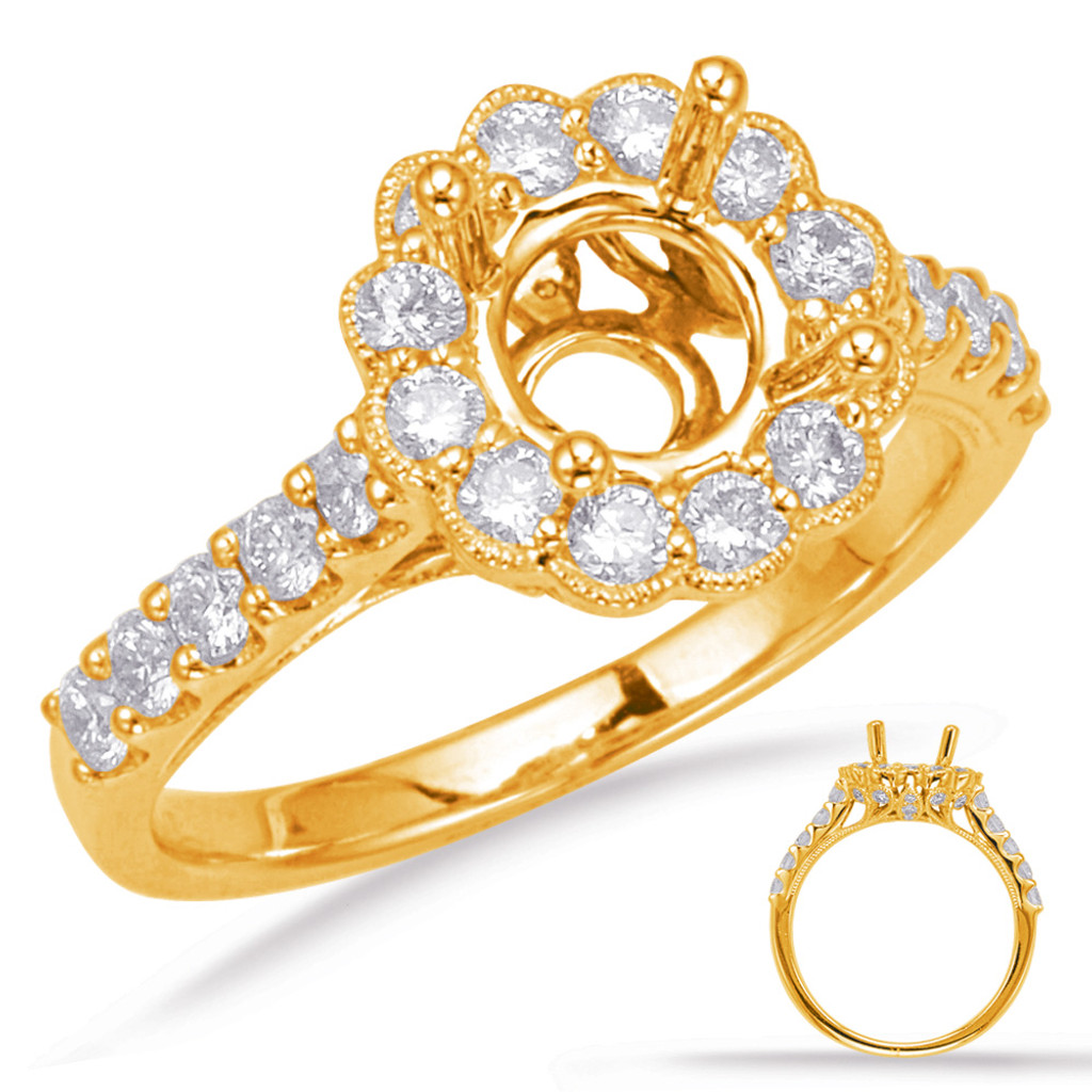 Diamond Engagement Ring  in 14K Yellow Gold    EN8078-1YG