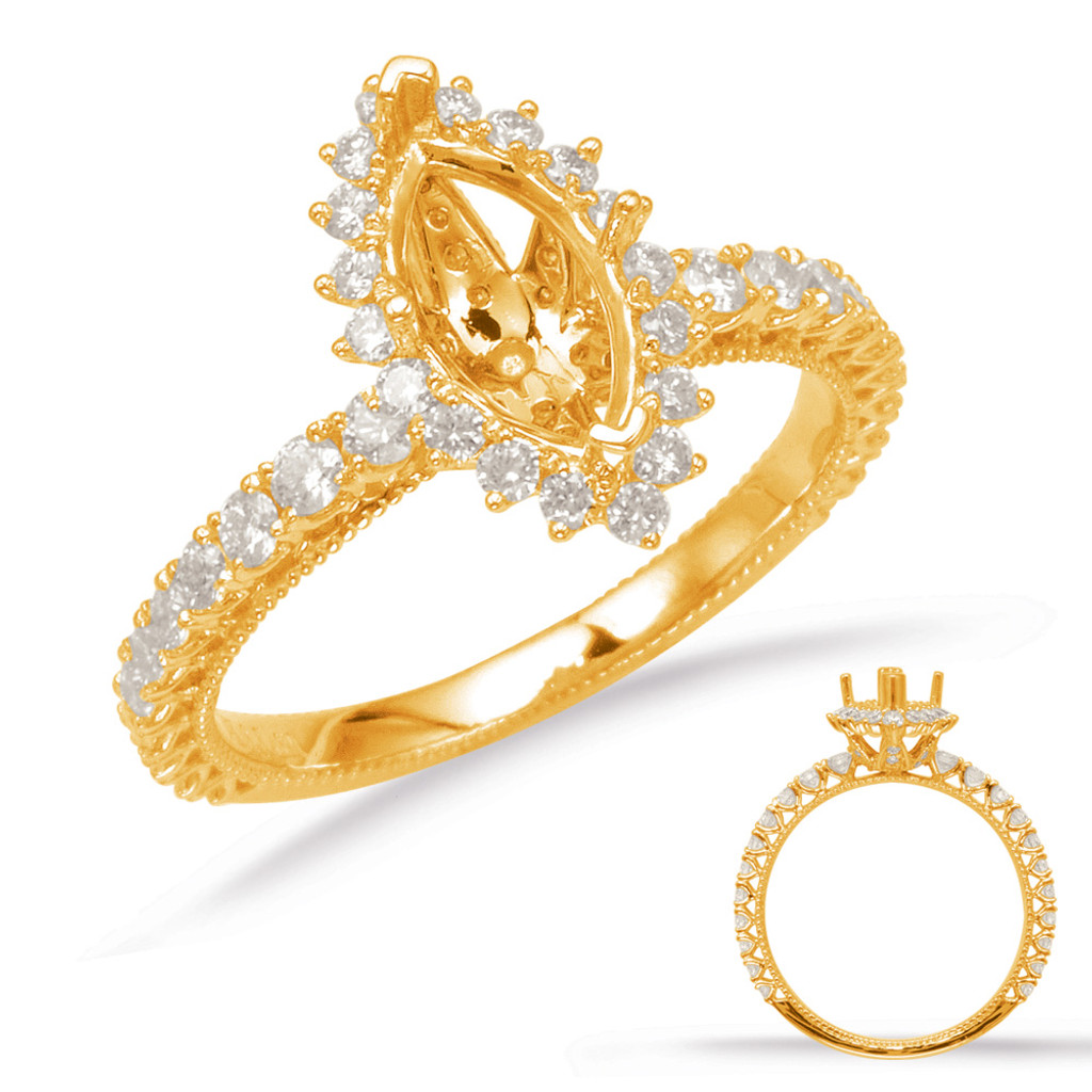 Diamond Engagement Ring  in 14K Yellow Gold    EN8094-9X4.5MYG
