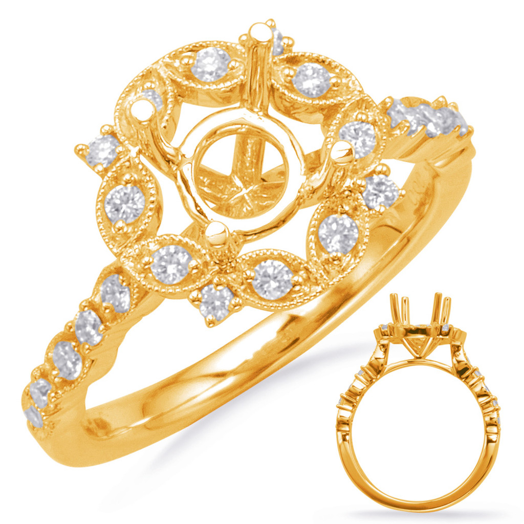Diamond Engagement Ring  in 14K Yellow Gold    EN8114-75YG