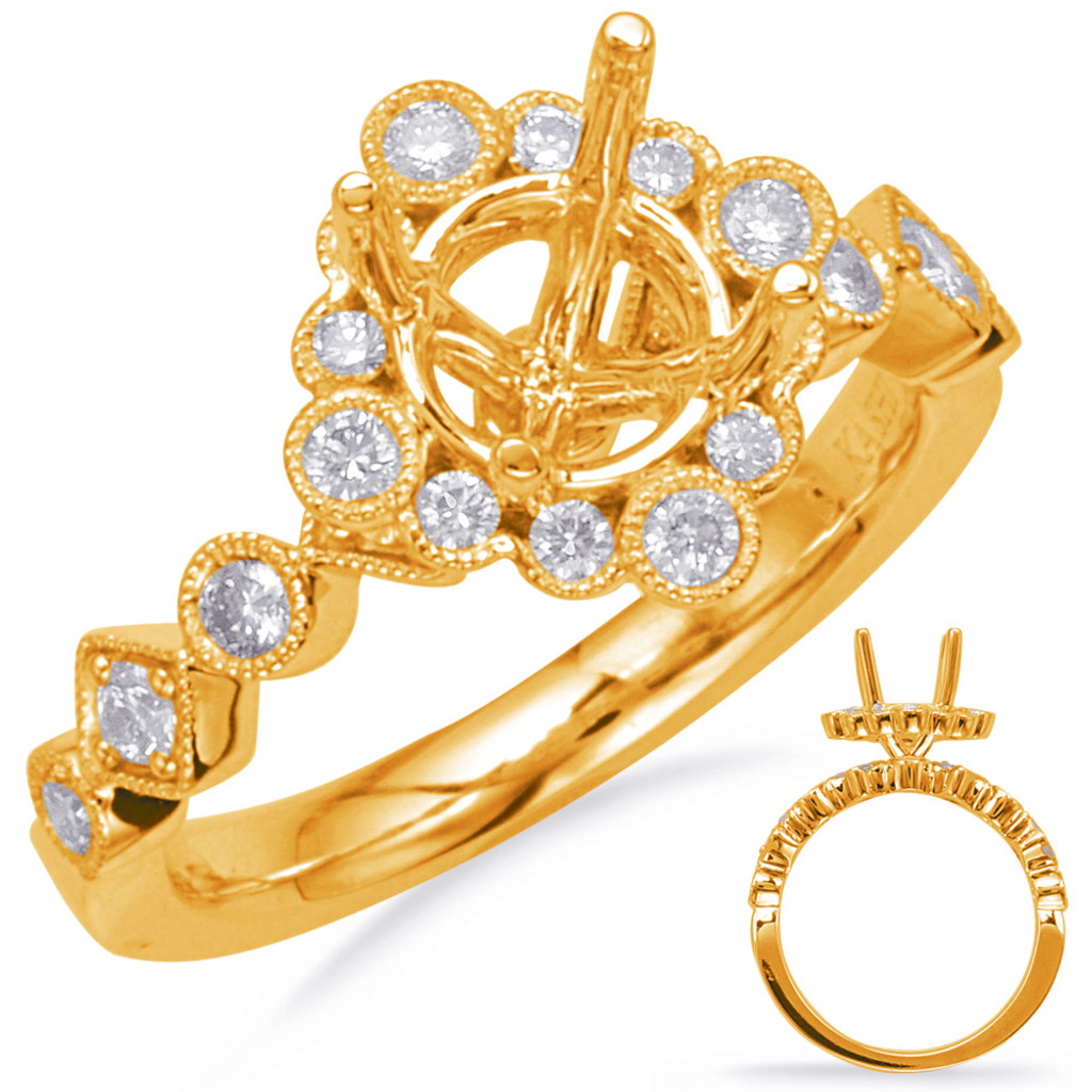 Diamond Engagement Ring  in 14K Yellow Gold    EN8117-1YG