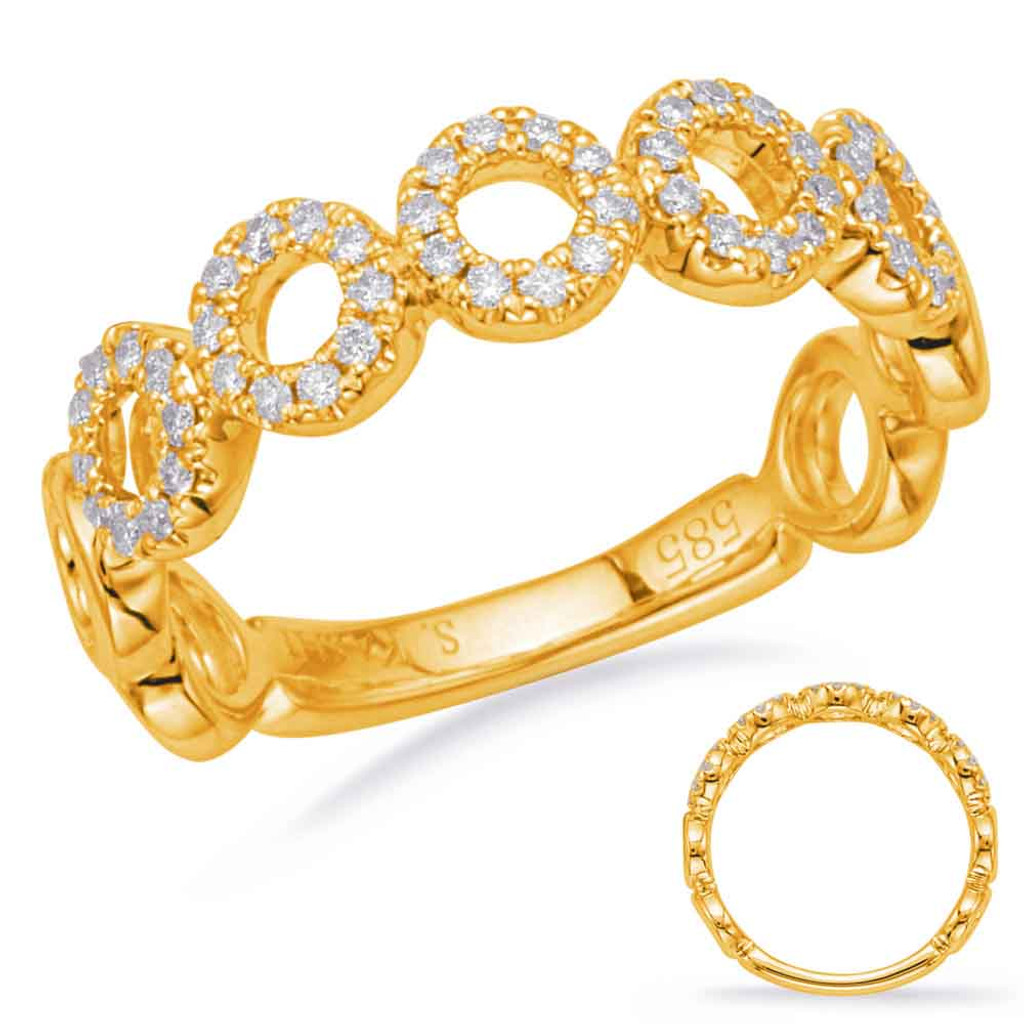 Diamond Fashion Ring in 14KT Gold Style #  D4682YG