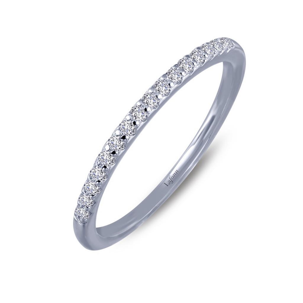 Lafonn's signature Lassaire simulated Diamond Stackable Ring 6R008CLP