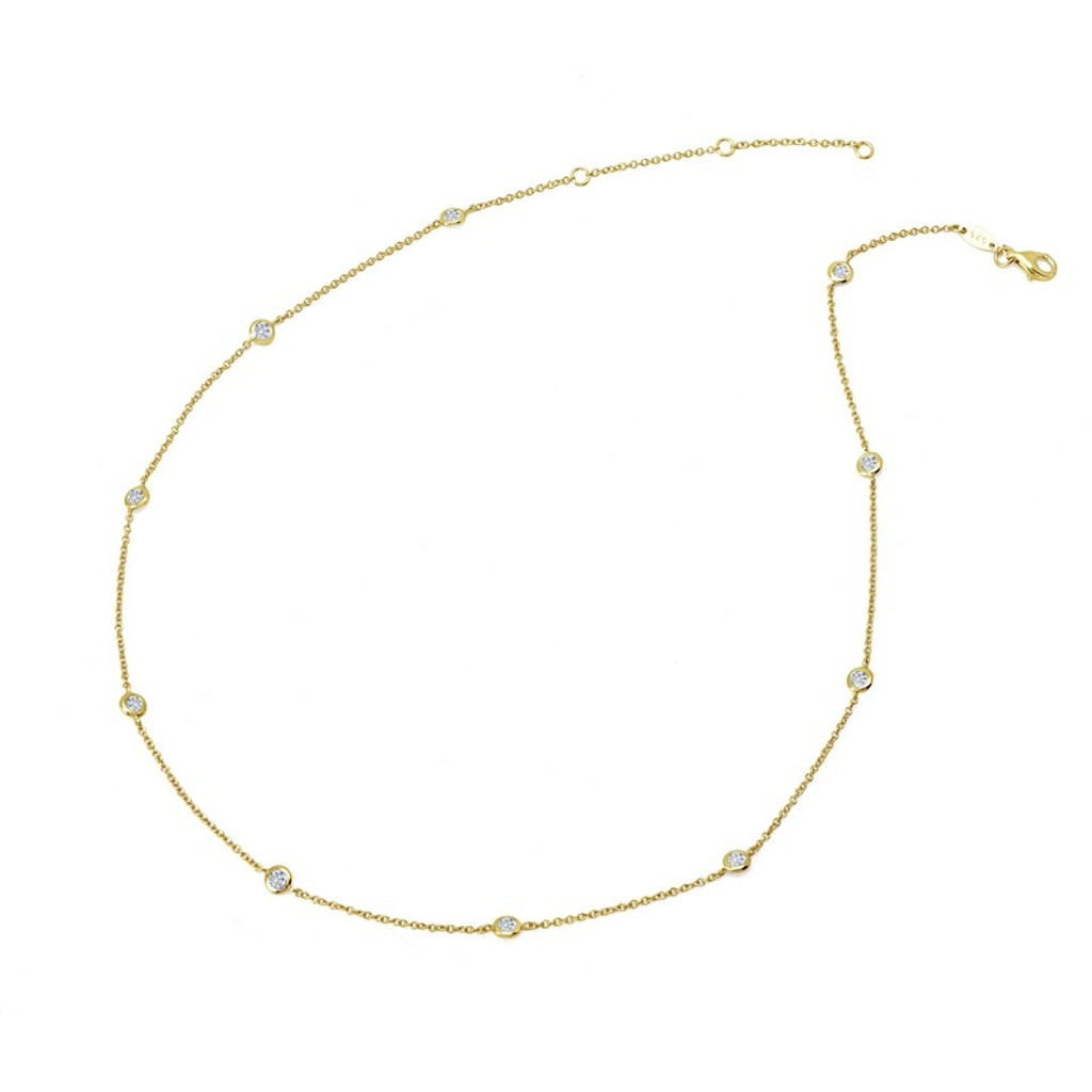 Lafonn's signature Lassaire simulated Diamond Necklace N0008CLG