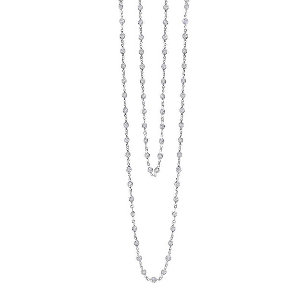 Lafonn's signature Lassaire simulated Diamond Necklace N0009CLP