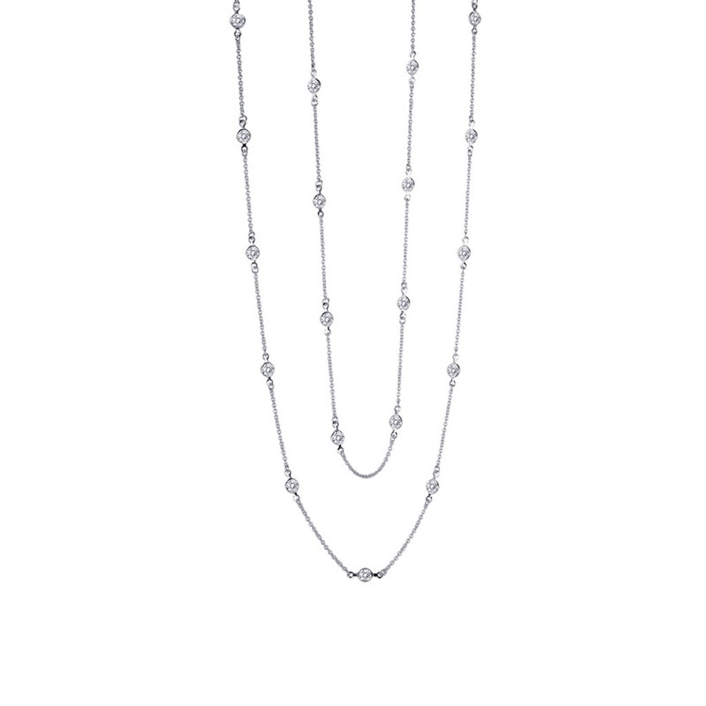 Lafonn's signature Lassaire simulated Diamond Necklace N0016CLP