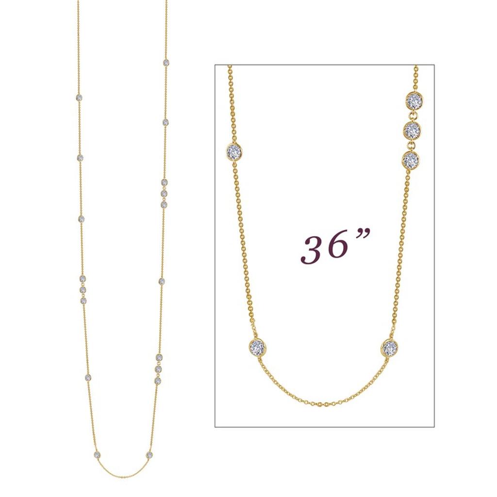 Lafonn's signature Lassaire simulated Diamond Necklace N0083CLG