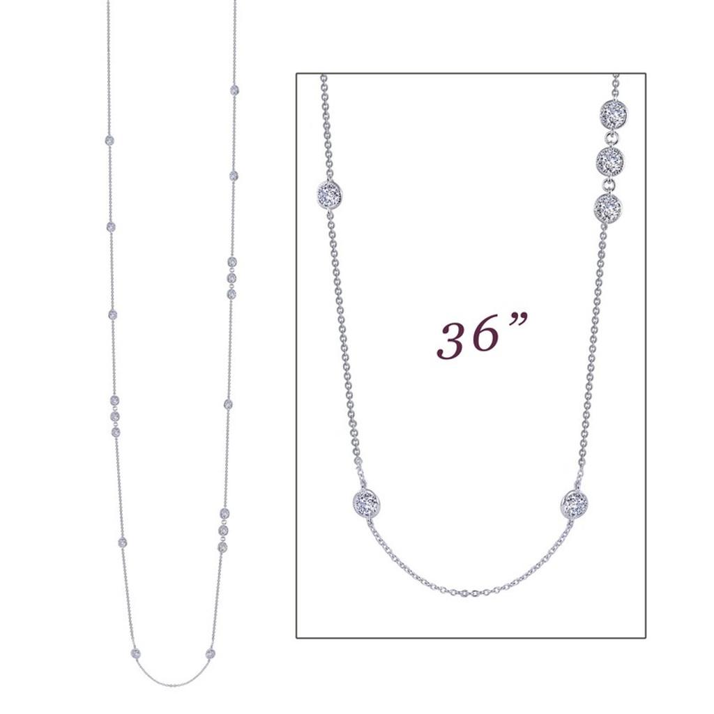 Lafonn's signature Lassaire simulated Diamond Necklace N0083CLP