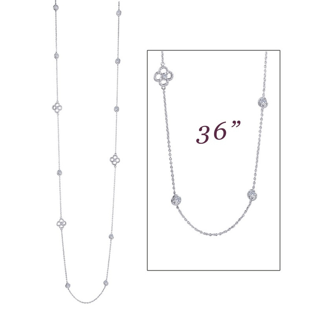 Lafonn's signature Lassaire simulated Diamond Necklace N0085CLP