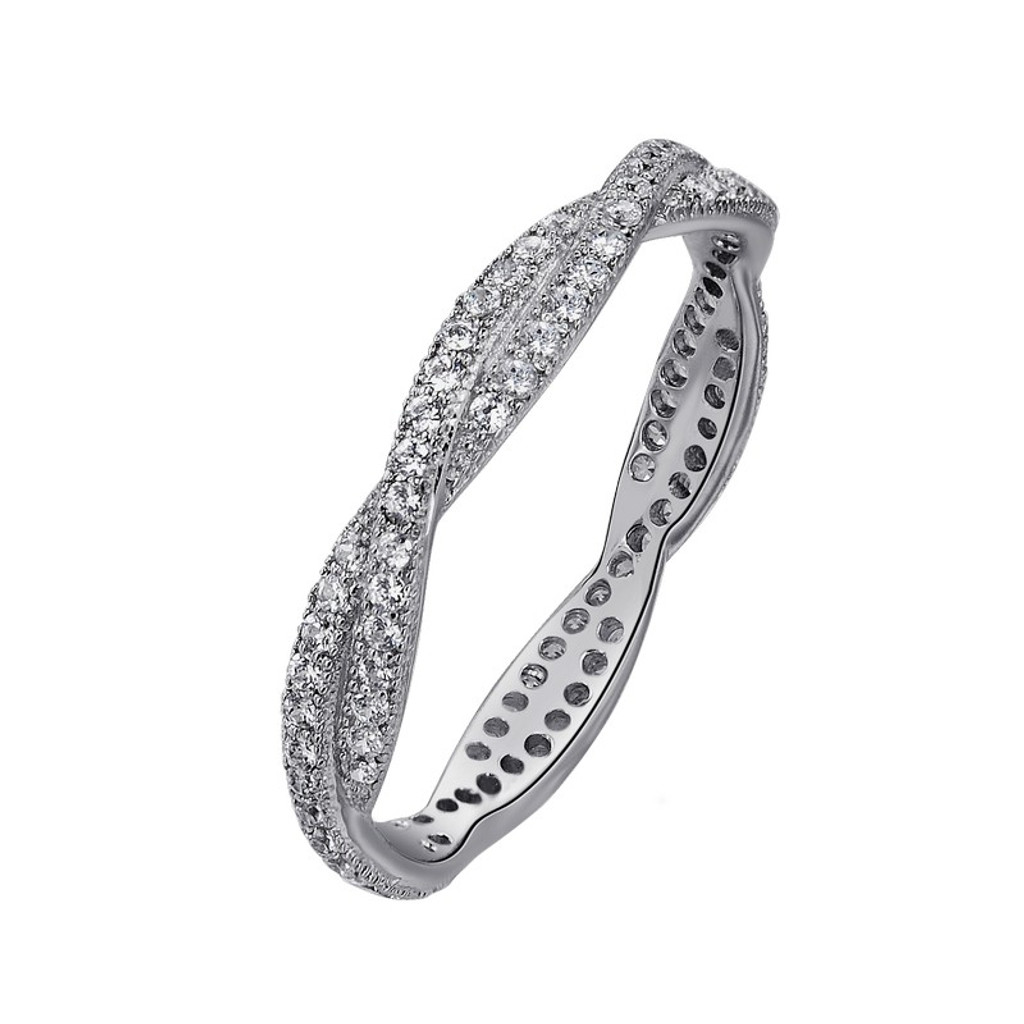 Lafonn's signature Lassaire simulated Diamond Stackable Ring R0003CLP