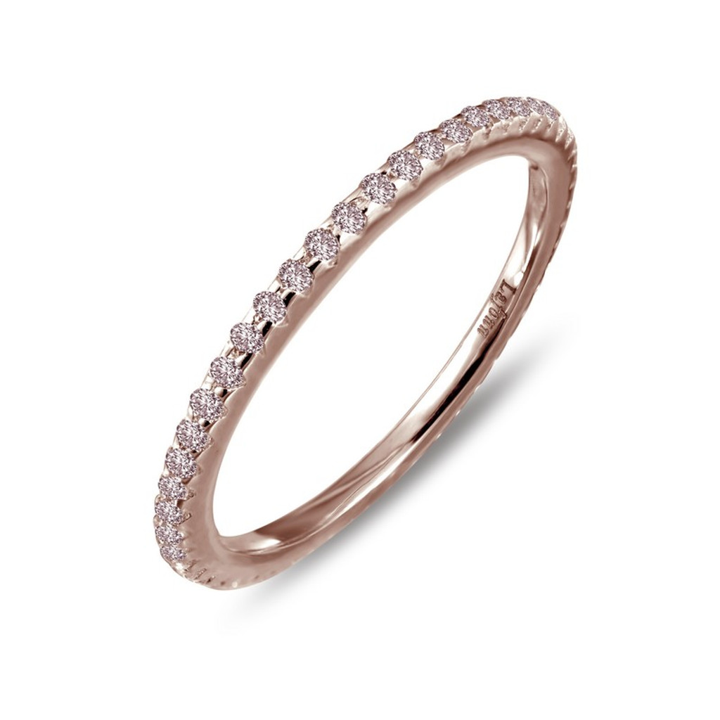 Lafonn's signature Lassaire simulated Diamond Stackable Ring R0038PKR