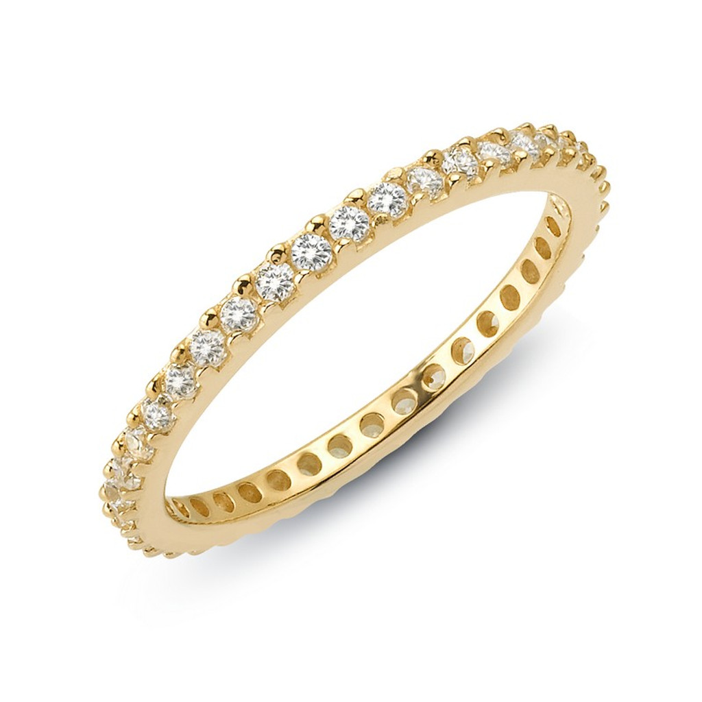 Lafonn's signature Lassaire simulated Diamond Stackable Ring R0101CLG