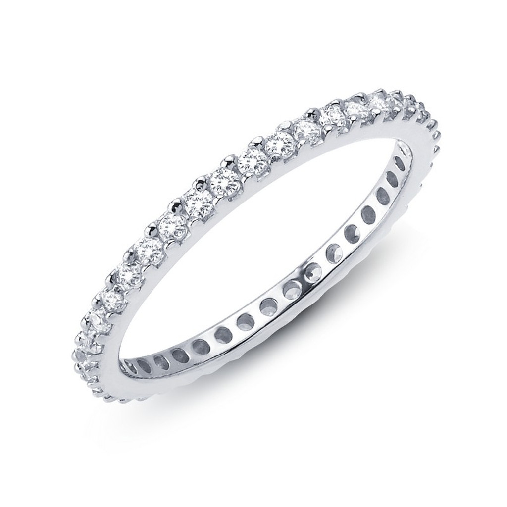 Lafonn's signature Lassaire simulated Diamond Stackable Ring R0101CLP