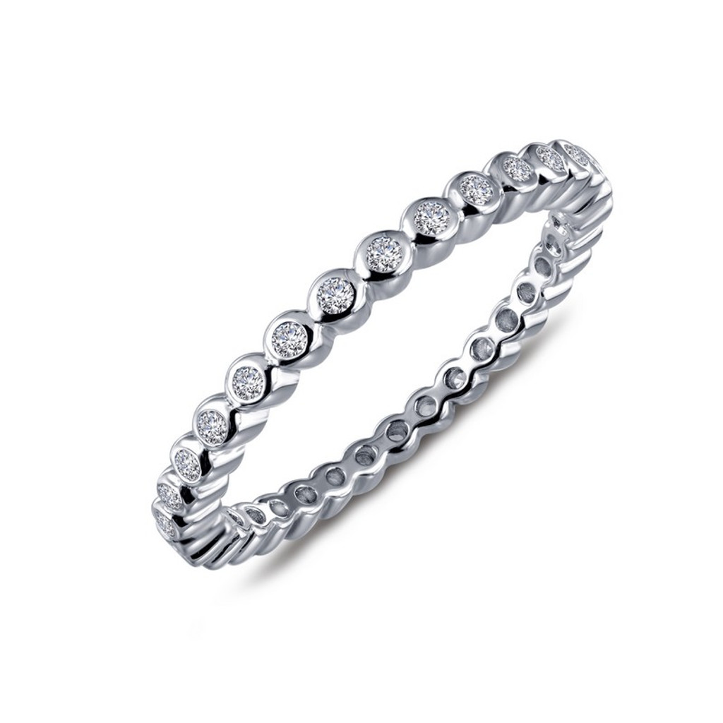 Lafonn's signature Lassaire simulated Diamond Stackable Ring R0212CLP