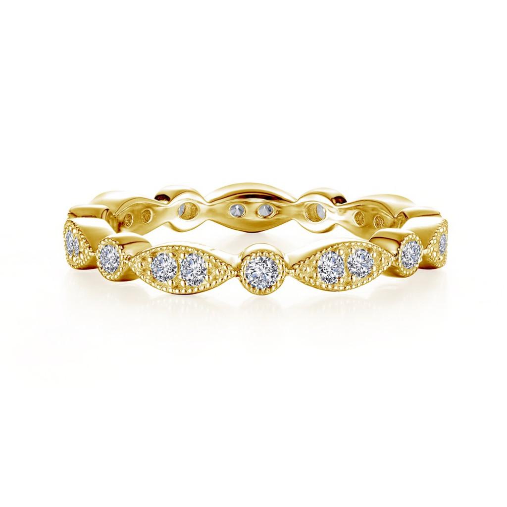 Lafonn's signature Lassaire simulated Diamond Stackable Ring R0372CLG