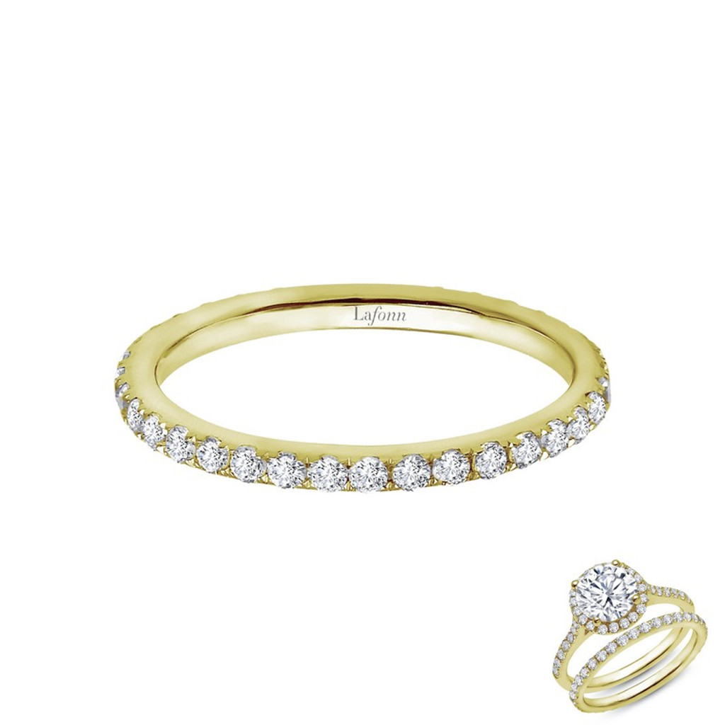Lafonn's signature Lassaire simulated Diamond Stackable Ring R2009CLG