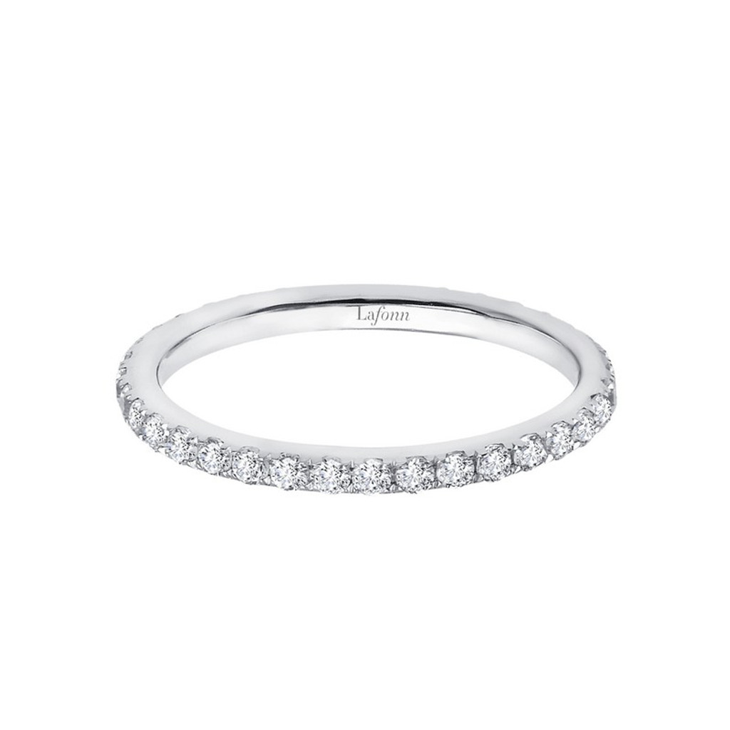 Lafonn's signature Lassaire simulated Diamond Stackable Ring R2009CLP