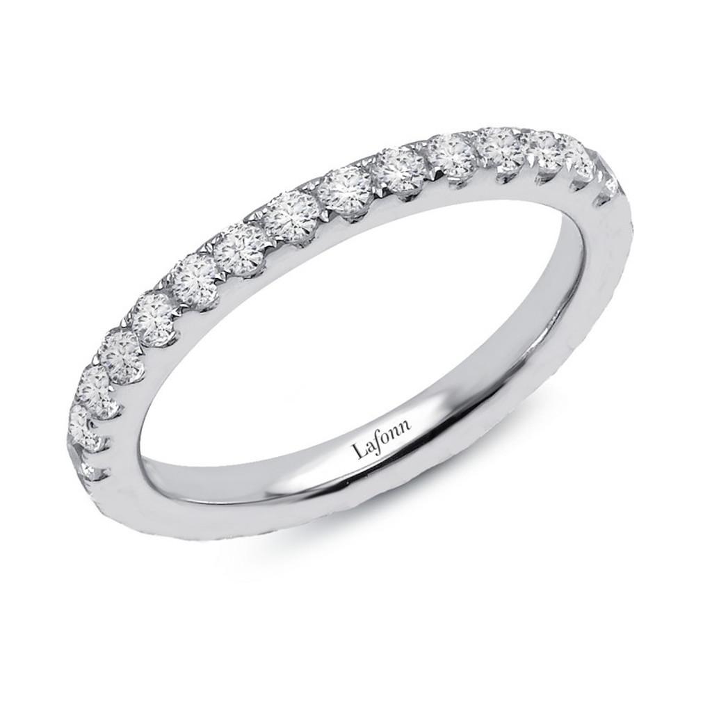 Lafonn's signature Lassaire simulated Diamond Stackable Ring R2018CLP