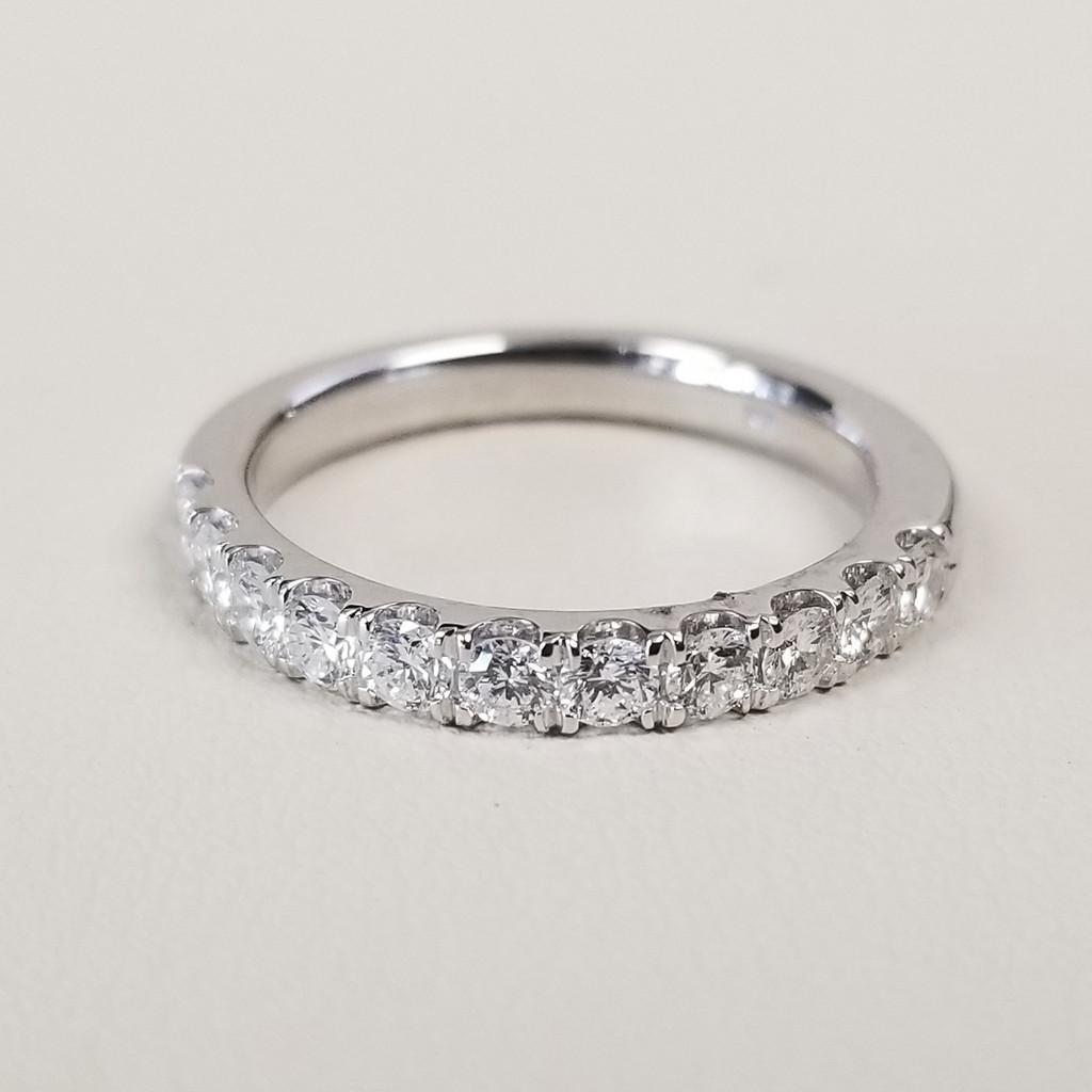 U Prong Set Diamond Ring in 14KT White Gold 0.60 ctw