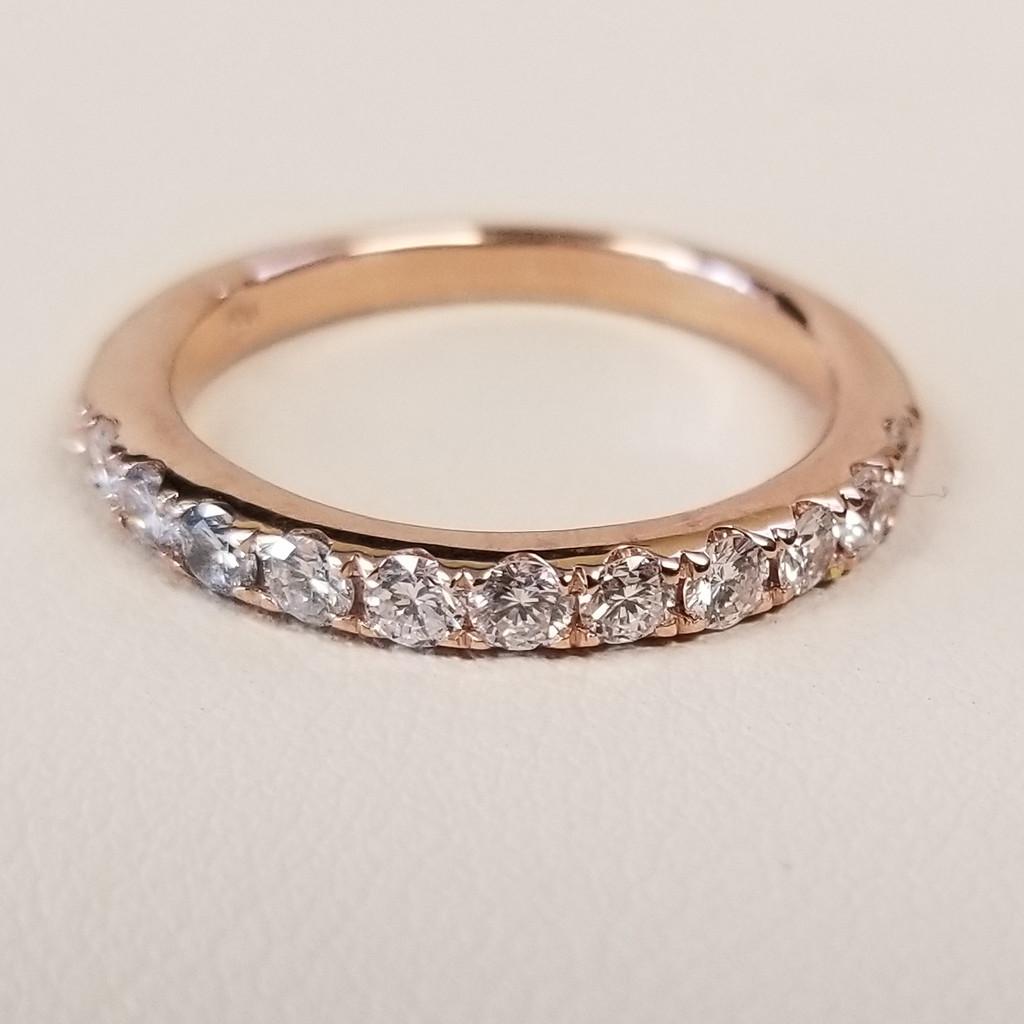 U Prong Set Diamond Ring in 14KT Rose Gold 0.60 ctw