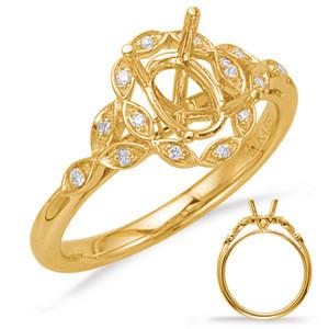 Diamond Engagement Ring  in 14K Yellow Gold    EN8066-11X9MYG