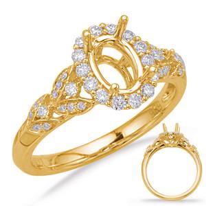 Diamond Engagement Ring  in 14K Yellow Gold    EN8067-8X6MYG