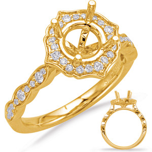 Diamond Engagement Ring  in 14K Yellow Gold    EN8070-75YG