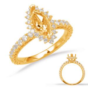 Diamond Engagement Ring  in 14K Yellow Gold    EN8094-6X3.5MYG