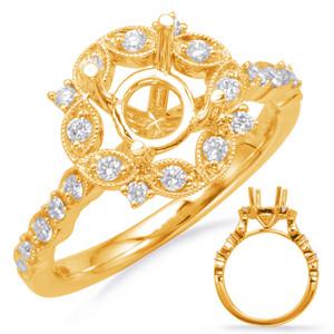 Diamond Engagement Ring  in 14K Yellow Gold    EN8114-75YG
