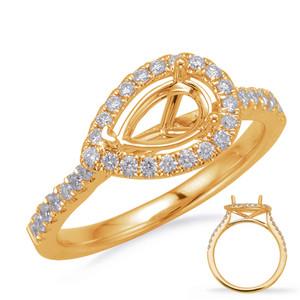 Diamond Engagement Ring  in 14K Yellow Gold    EN8208-7X5MYG