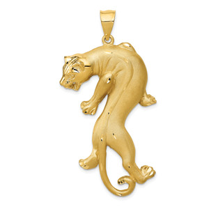 14KT Gold Panther Pendant