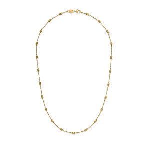 Station Oval MOON Gold Plated Necklace
