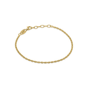 CP L TYPHOON Gold Plated Silver Bracelet.