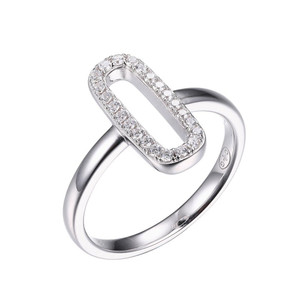 Sterling Silver Ring with Cubic Zirconia SXR3331WZ