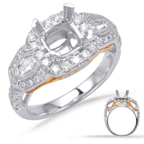 Diamond Engagement Ring  in 14K Rose and White Gold   EN7700-6.5MRW