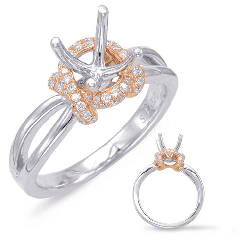 Diamond Engagement Ring  in 14K Rose and White Gold   EN7860-1RW