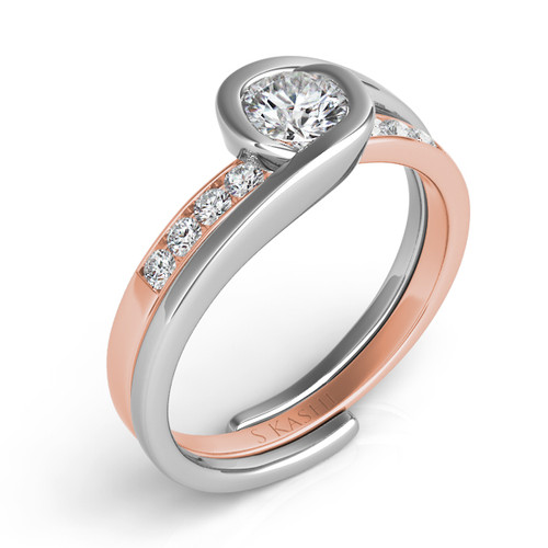 Diamond Engagement Ring  in 14K Rose and White Gold    EN6720RW