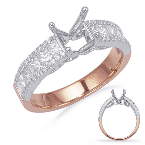 Diamond Engagement Ring  in 14K Rose and White Gold    EN7551RW