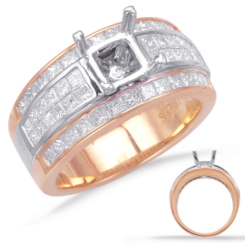 Diamond Engagement Ring  in 14K Rose and White Gold    EN7992-1RW