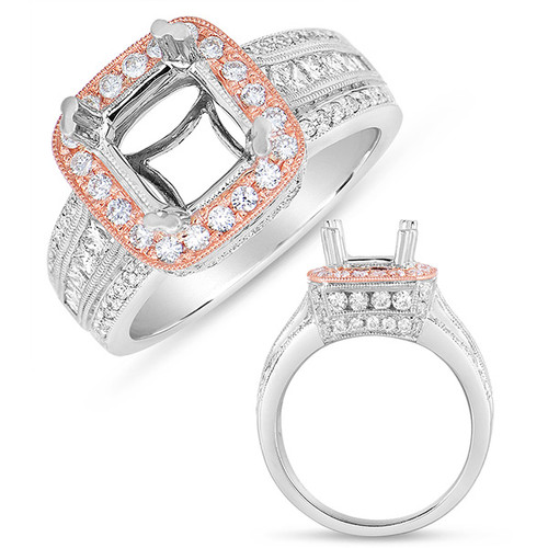 Diamond Engagement Ring  in 14K Rose and White Gold   EN7559-2RW