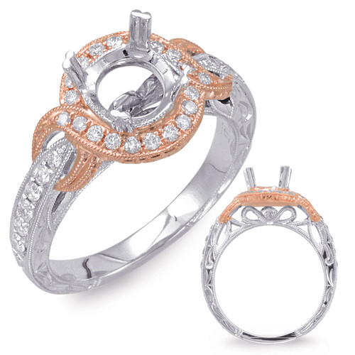 Diamond Engagement Ring  in 14K Rose and White Gold   EN7728-1RW