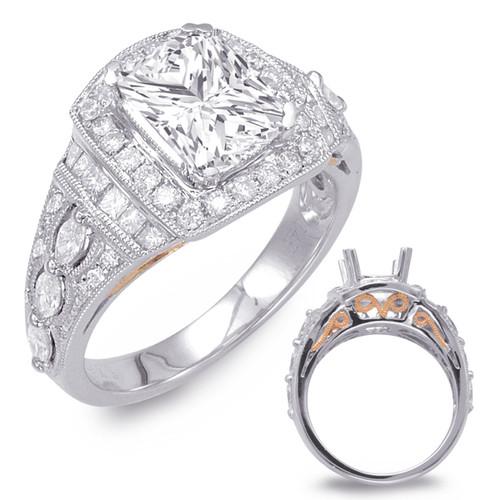 Diamond Engagement Ring  in 14K Rose and White Gold   EN7738-8X7MRW
