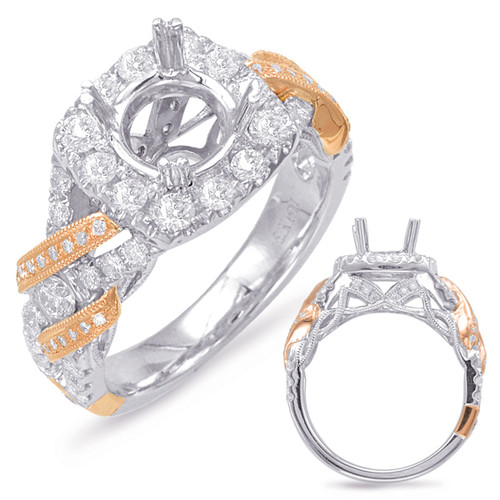 Diamond Engagement Ring  in 14K Rose and White Gold   EN7823-1RW