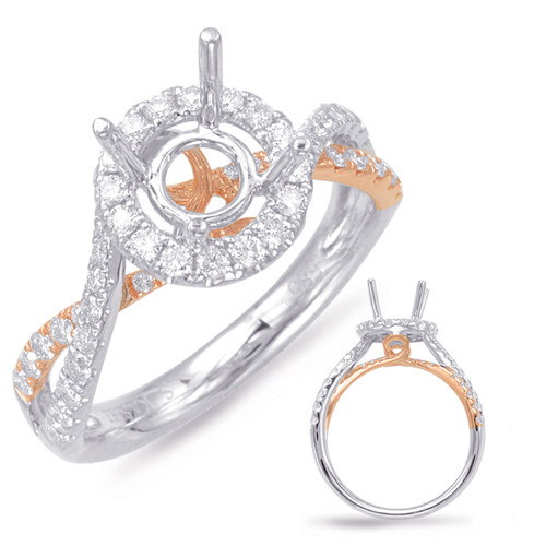 Diamond Engagement Ring  in 14K Rose and White Gold   EN7856-50RW