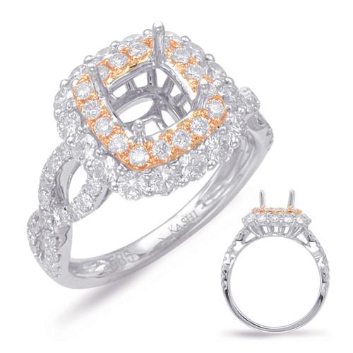 Diamond Engagement Ring  in 14K Rose and White Gold   EN7857-6.5MRW