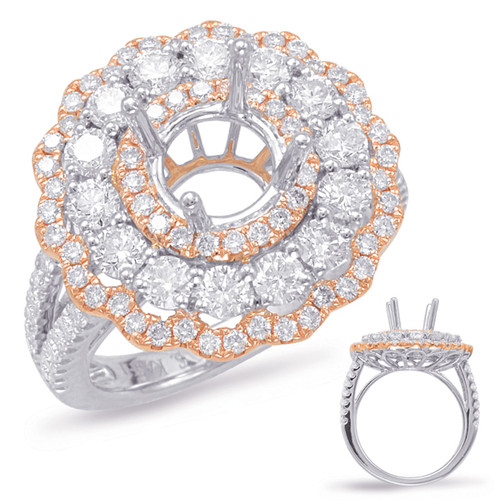Diamond Engagement Ring  in 14K Rose and White Gold   EN7899-15PDRW